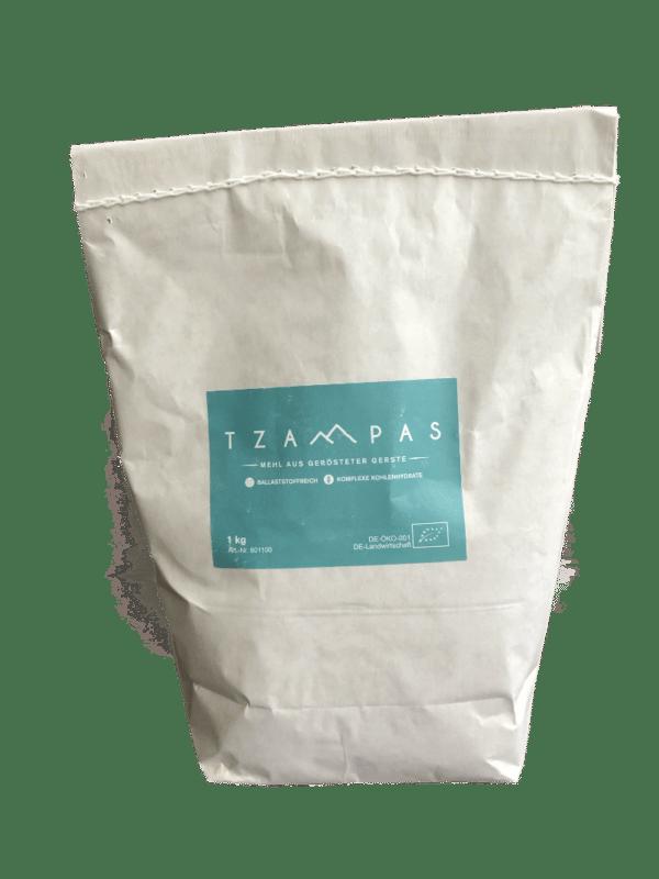 TZAMPAS Tsampa Mehl aus gerösteter Gerste Front
