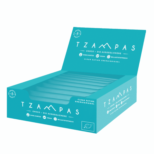 TZAMPAS Choco Clean Eating Energieriegel Display
