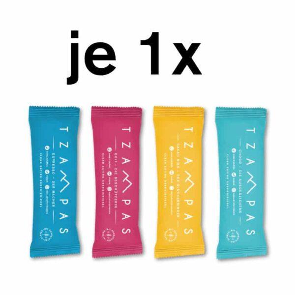 TZAMPAS Clean Eating Energieriegel Mix Box 4er