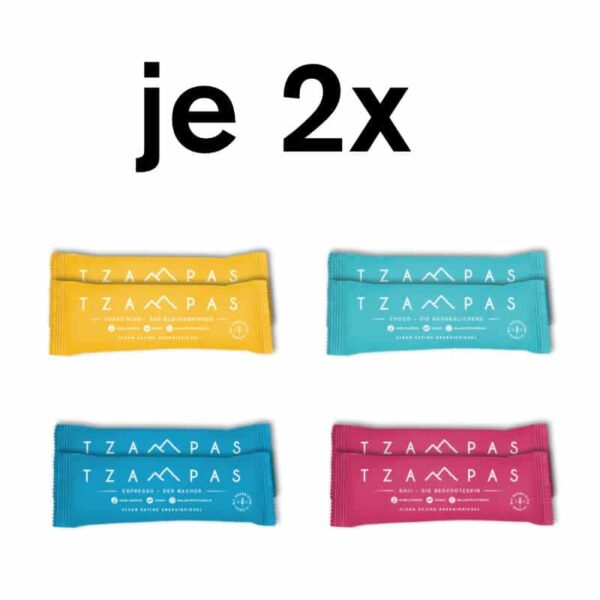 TZAMPAS Clean Eating Energieriegel Mix Box 8er